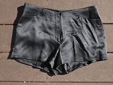 Richard Tyler 1996 black silk charmeuse hotpants, lined - size 4