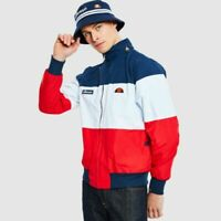 Ellesse Mens Jacket Track Top Full Zip Navy Red White La Querce Large RRP £75