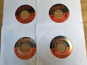 Lot of 4 classic ARETHA FRANKLIN 45s All orig US Atlantic EX to EX+ condition+++