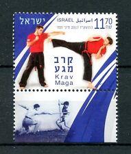 Israel 2017 estampillada sin montar o nunca montada Krav Maga 1v conjunto de sellos de deportes