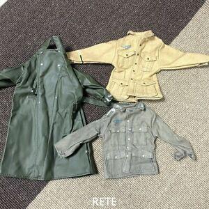 3X 1:6 Ultimate Soldier German Infantry Trench Coat Jacket 12'' GI Joe BBI DID
