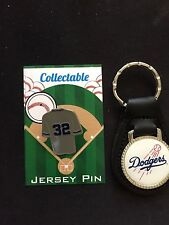 Los Angeles Dodgers lapel pin/leather keychain-Tru Blu Collectables-Sandy Koufax