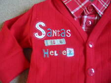 BNWT ADAMS Christmas Set Trousers Shirt Cardigan Jumper 3-6 Months