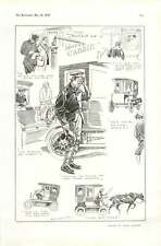 1905 Trials Of A Motor Cabby Cartoon Keeping Bad Company