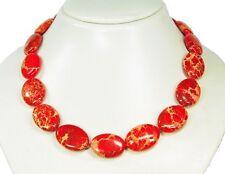 STRAORDINARIO Collana di pietre preziose in sedimenti Rosso
