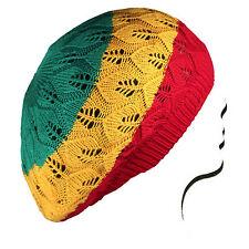 Rasta Crochet Slouchy Tam Beanie Reggae Marley Jamaica Rastafari Dreadlocks M/L