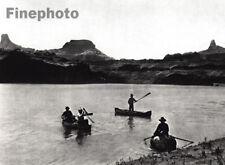 1926 Colorado River UTAH Landscape Photo Canoe By HOPPE