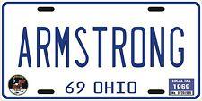 Neil Armstrong Nasa Apollo 11 astronaut Moon landing Ohio 1969 License plate