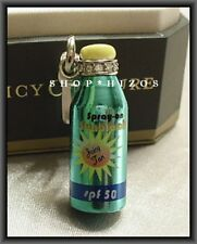JUICY COUTURE SILVER EDITION 2011 SUNBLOCK TYPO BOTTLE CHARM NIB