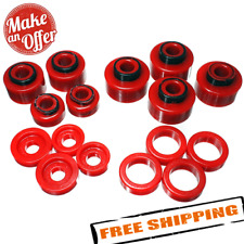 Energy Suspension 4.4120R Red Crew Cab Body Mount Bushing for Ford Super Duty
