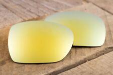 Metallic 24k Gold Iridium Polarized Mirror Sunglass Lenses for Oakley Deviation