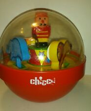 Vintage Chicco Chime Ball Circus Carousel Baby Toy Lion Pony Elephant Ringmaster