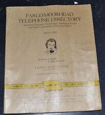 1955 FARGO MOORHEAD DILWORTH SABIN COMSTOCK HORACE ARGUSVILLE Telephone Book