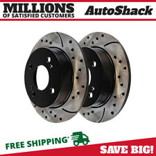 Rear Drilled Slotted Disc Brake Rotors Pair 2 for Nissan Sentra Infiniti G20 (Fits: Infiniti G20)