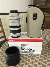 100-400mm f/4.5-5.6 L Canon EF IS USM zoom lens EOS boxed MINT