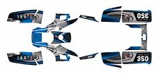 Yamaha Warrior 350 Graphics Decal kit Free Custom Service #3737-Blue