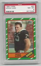 Howie Long 1986 Topps  Card # 67,  PSA - NM / MT - 8, Oakland Raiders