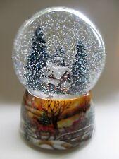 sehr große Schneekugel mit Spieluhr, Haus im Winter Wald, winter wonderland, NEU