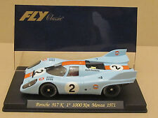 "Vintage FLY C52 CLASSIC GULF PORSCHE 917 K ""1° 1000 Km MONZA 1971""1/32 Slot Car"