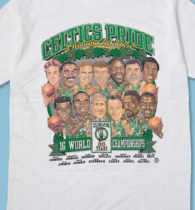 Vintage Boston Celtics Pride Basketball T Shirt Funny White Cotton Tee Gift Men
