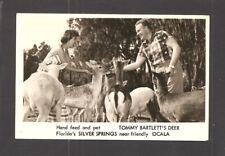 REAL-PHOTO PC:  TOMMY BARTLETT FEEDING TAME DEER - SILVER SPRINGS near OCALA, FL