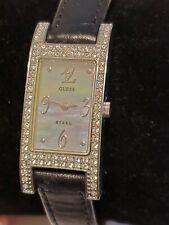 GUESS STEEL G85836L W-Crystal silver tone Bezel ladies/Women's watch