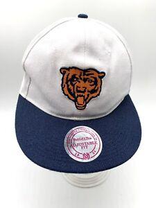Chicago Bears Baseball Cap Hat Logo Black Snap Back One Size White Blue