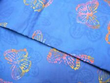 """BATIK floral-one-of-a-kind 100% cotton quilting fabric 3 yd x 44""""w flat rate env"""