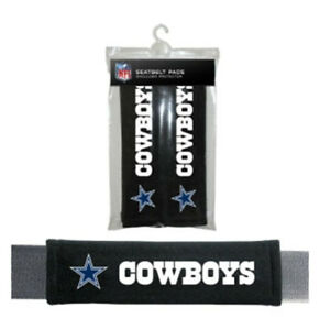Dallas Cowboys Velour Seat Belt Shoulder Pads 2/PK Auto Car Truck Vehicle