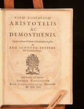 1603 Vitae Comparatae Aristotelis Ac Demosthenis Andreas Schottus Scarce Private
