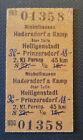Eisenbahn Fahrkarte  1977   Michelhausen - Prinzersdorf