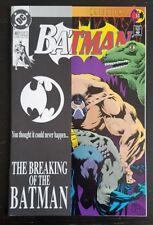 BATMAN #497 (1993 DC) *BAIN BREAKS BATMANS BACK* NM