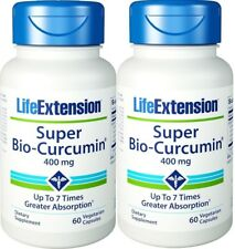 Life Extension Super Bio-Curcumin for Healthy Cell Division, 400mg (2 x 60 Caps)
