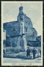 Agrigento Favara Monumento ai Caduti Carabiniere ? cartolina RT0171