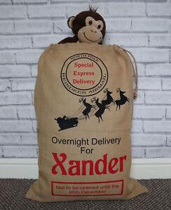 Santa sack, Personalised santa sack, Present sack, Xmas stocking