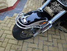 HONDA F6C VALKYRIE GL 1500 C & INTERSTATE CHROME FRONT FENDER BUMPER RAIL TRIM