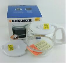 Black & Decker WHITE 12 Cup 3380 Replacement Glass Carafe NEW