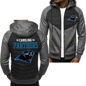 Carolina Panthers Hoodie Classic Autumn Hooded Sweatshirt Jacket Coat Top Tops