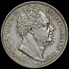 More details for 1836 william iv milled silver half crown, a/unc