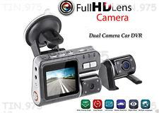 True HD 1080P Dual Car Dash Camera H.264 DVR Video Recorder Crash Cam G-sensor