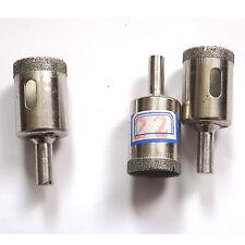 "3 pcs 22mm ( 7/8"" ) Diamond coated core drill drills bit glass tile hole saw"