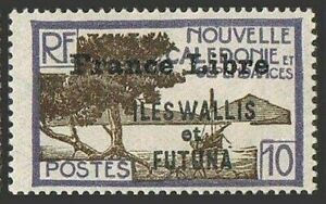 Wallis & Futuna 99,hinged. FRANCE LIBRE 1941-1943.Bay of Palettuviers Point.