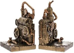 Steampunk Industrial Bookends In Metallic Style Finish LP45787