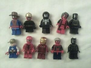 Lot of 10 LEGO MARVEL HEROS Minifigures all in pics