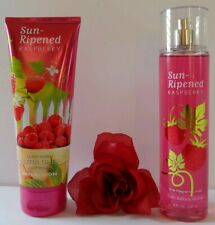 BATH AND BODY WORKS - SUN-RIPENED RASPBERRY - BODY CREAM &  MIST (SET) - NEW