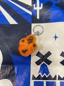 Kipling Faith Extra Small Monkey Keychain Orange Cute!💥🔥