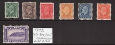 Canada 1932 SG319/25 George VI multiple, multi-colour,cents  set L/hinged