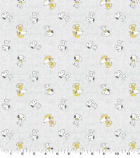 "Peanuts Snoopy Toss 100% Cotton Fabric 7.5"" X 42"" DIY Mask"