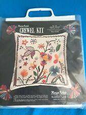 "New Marion Nichols #133 Crewel Delight Kit 16""x16"" Pillow"