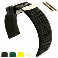 Men's Silicone Rubber Watch Strap Band Waterproof 18 20 22 24 Summer Tread MM